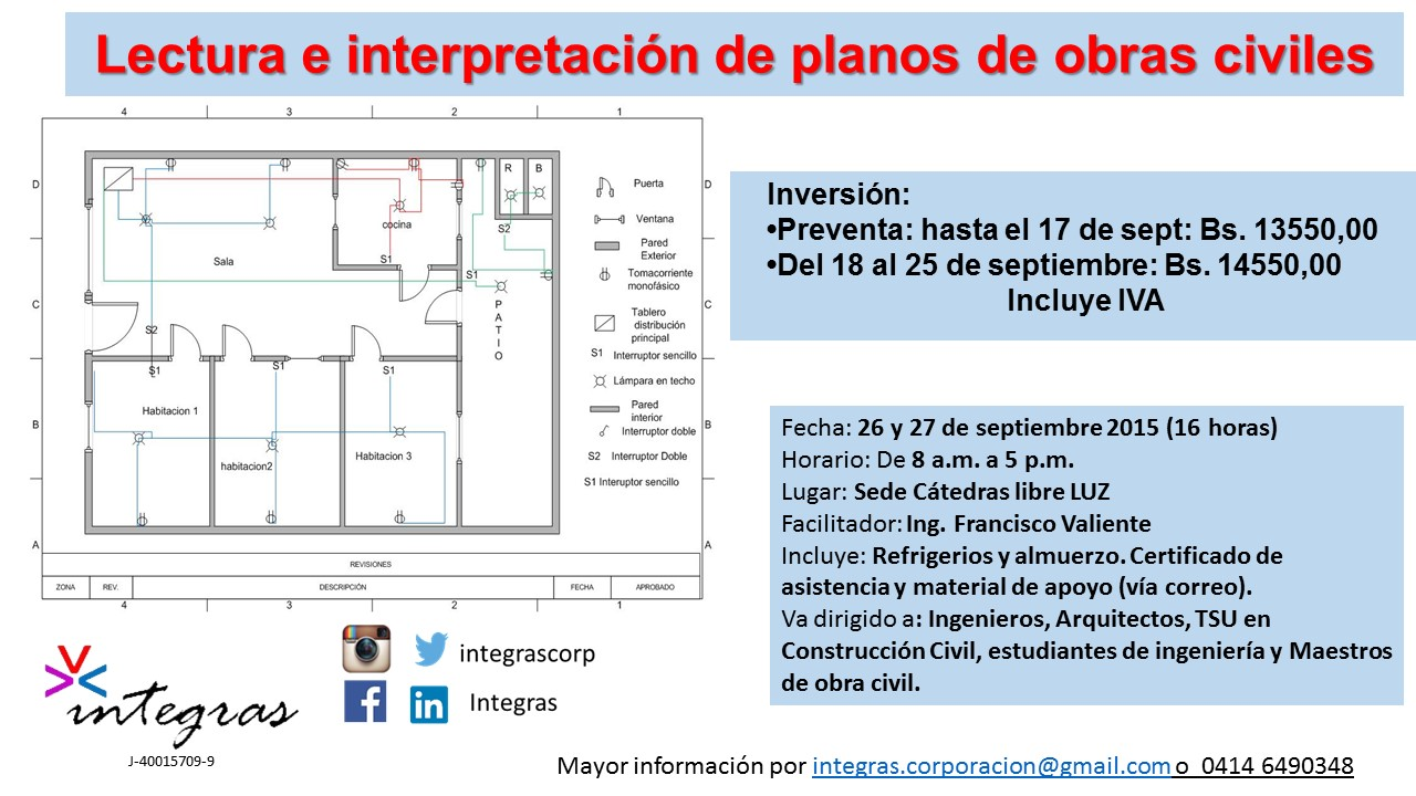 Curso lectura e interpretaci n de planos de obras civiles for Planos ingenieria civil